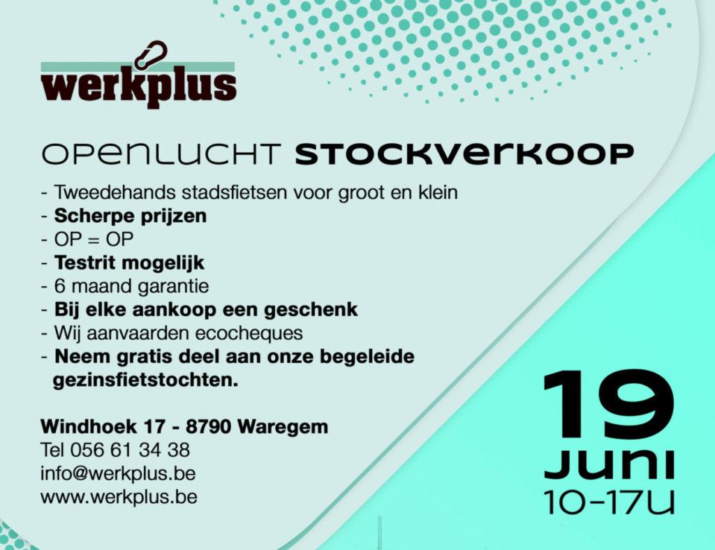 Stockverkoop tweedehandsfietsen op 19 juni